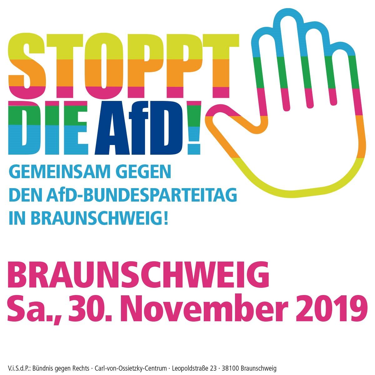 Demonstration gegen den AfD-Bundesparteitag