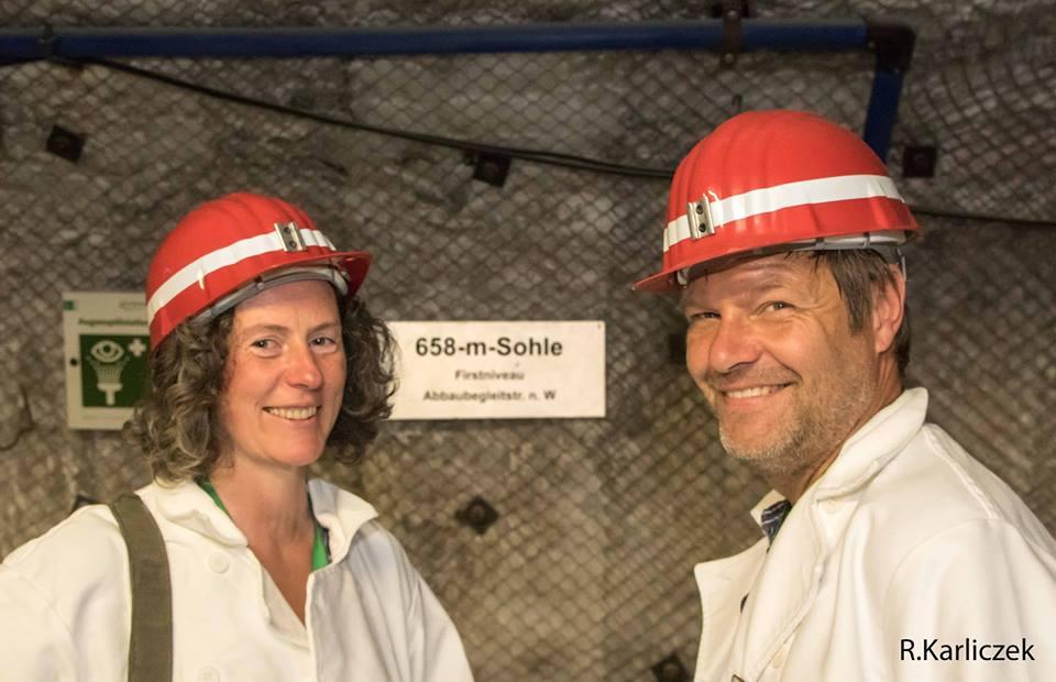 Ghalia El Boustami und Robert Habeck besichtigten die Asse