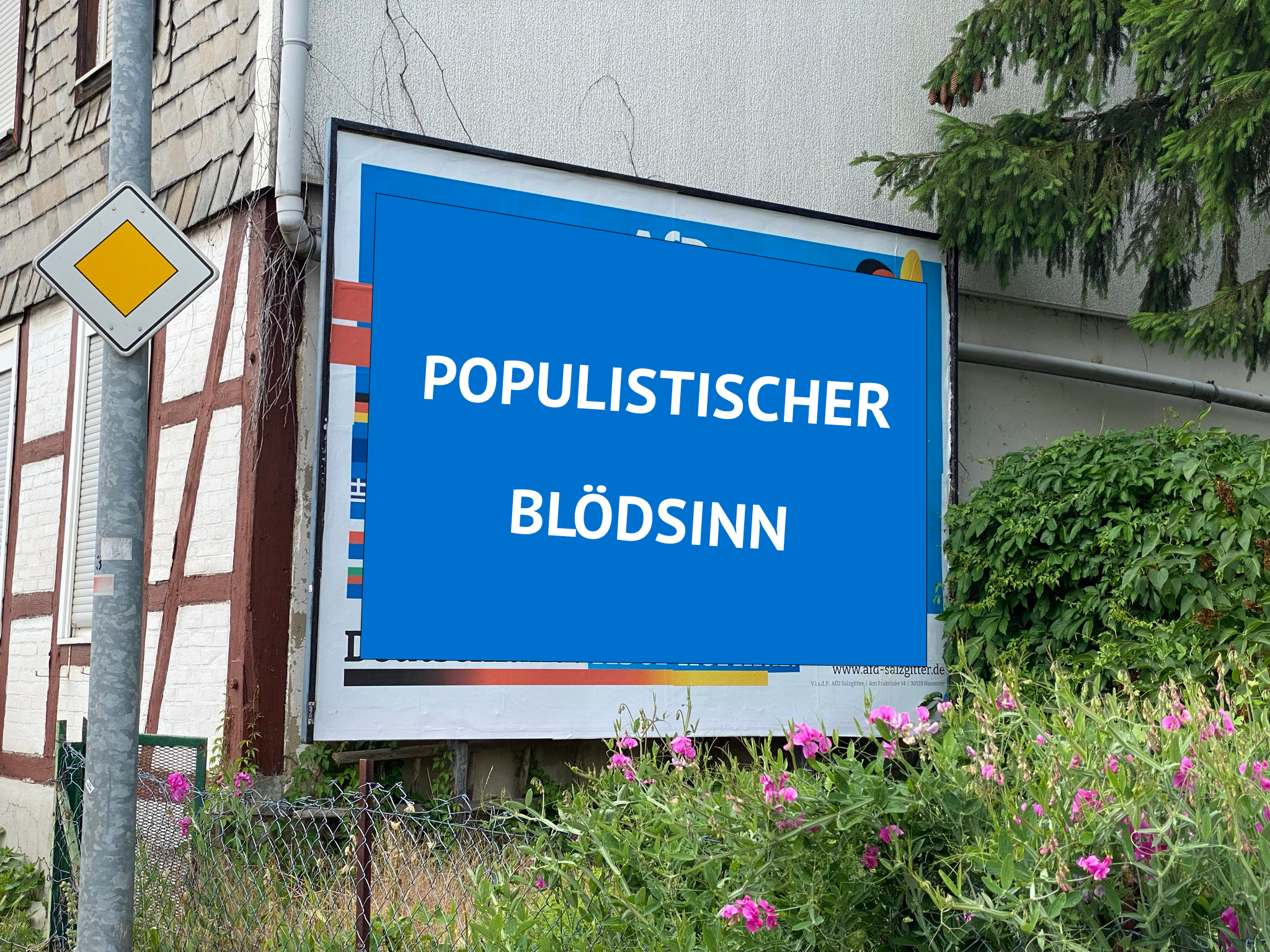 Statement zu Plakaten einer rechtsradikalen Gruppierung