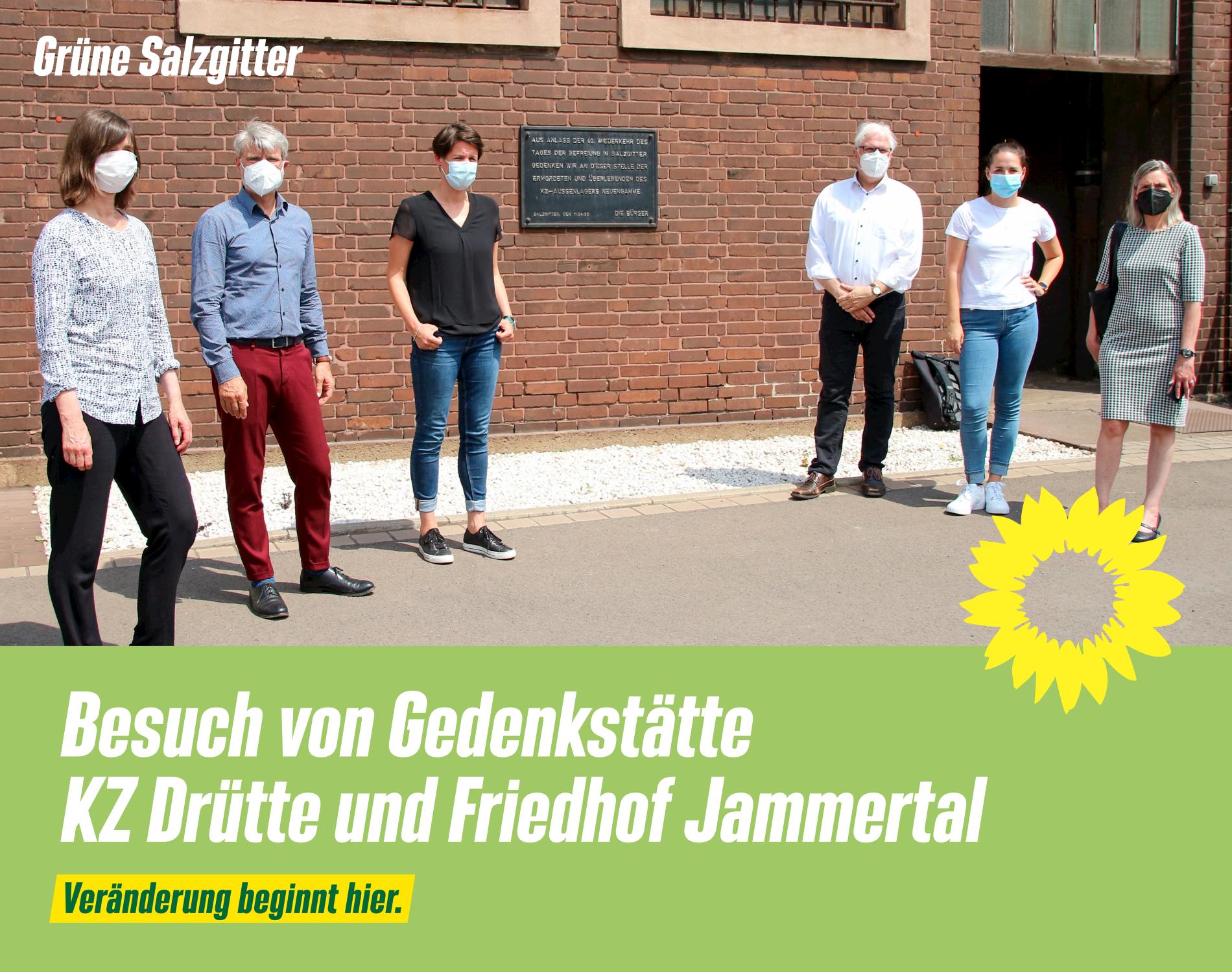 Besuch von Gedenkstätte KZ Drütte und Friedhof Jammertal