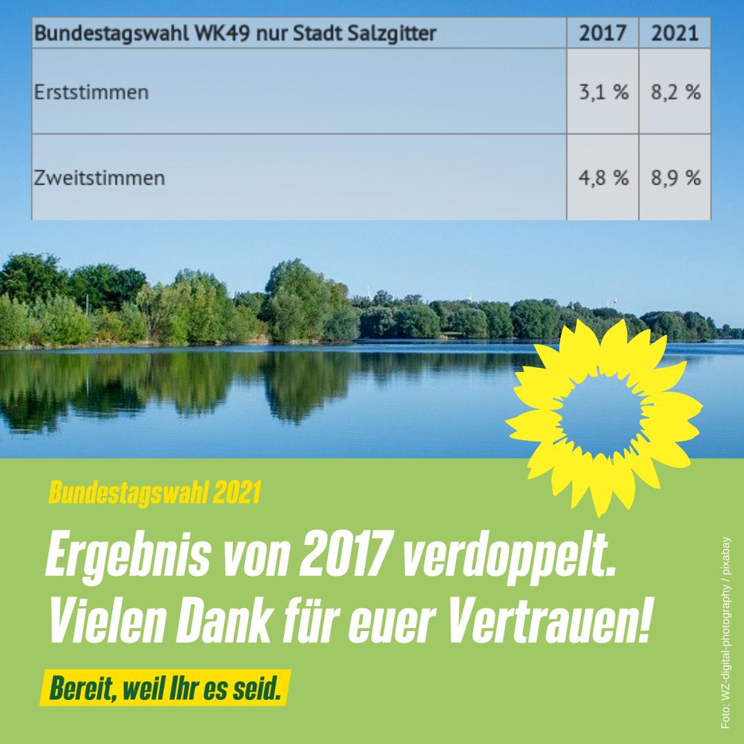 BTW 2021: Ergebnis von 2017 verdoppelt